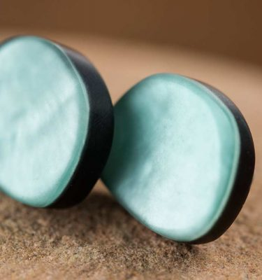 Dutch Design | Aqua green studs